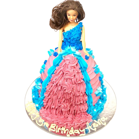 doll themed cake