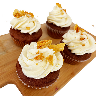 cupcakes with honey shards.png