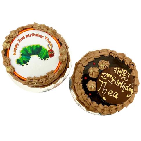 caterpillar themed cake