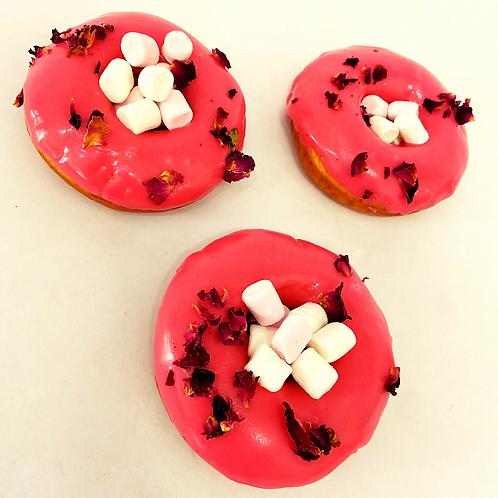 marshmallow rose doughnut