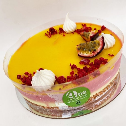 passionfruit and raspberry mousse cake 8 inch