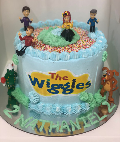 4me gluten free wiggles themed birthday cake