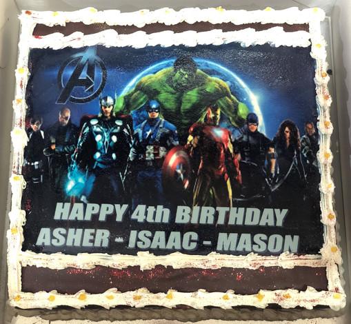 4me gluten free avengers themed birthday cake