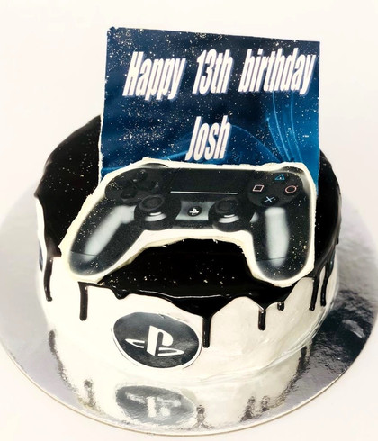 playstation themed cake