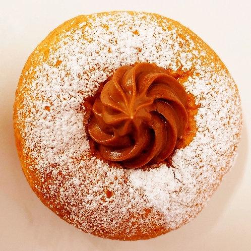 chocolate custard doughnut