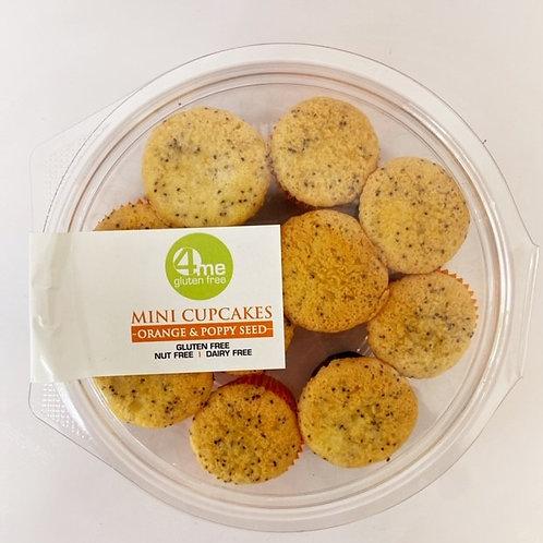 orange and poppy seed mini cupcakes