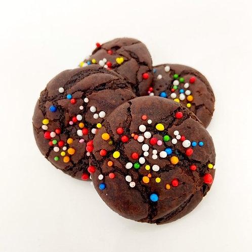 chocolate brownie sprinkle biscuits