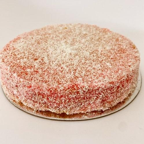 raspberry lamington cake