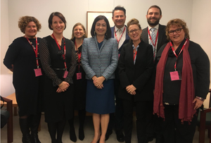 Members of the Alliance pose for a photo with Terri Butler MP