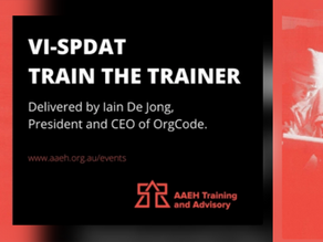 VI-SPDAT - Train the Trainer
