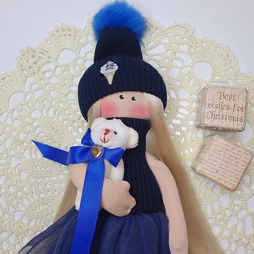 Lalka zimowo- świąteczna