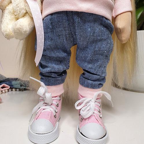 Dzinsowe spodnie dla twojej lalki