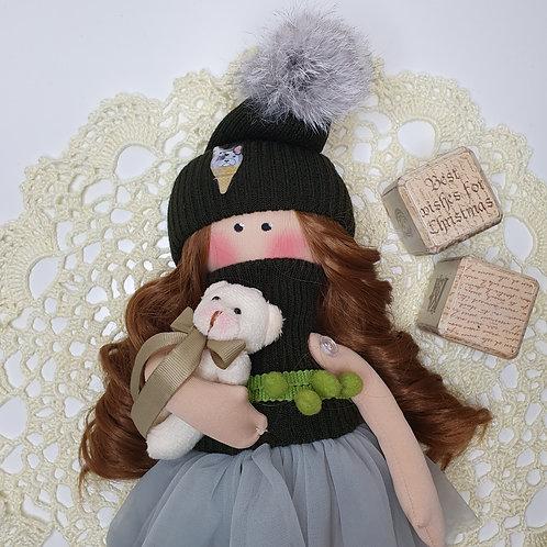 Lalka zimową- świąteczna