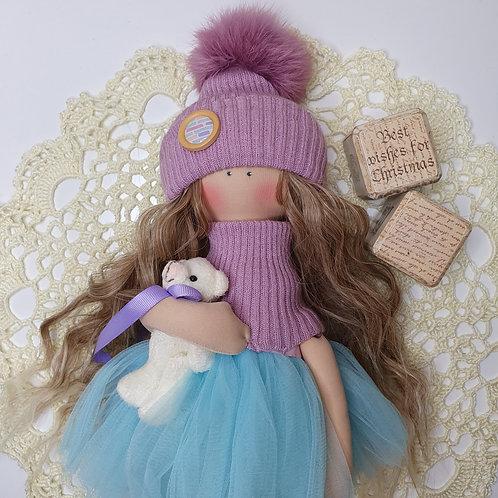 Lalka zimową -świąteczna
