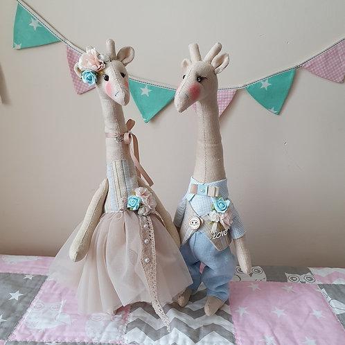 Zakochane Żyrafki