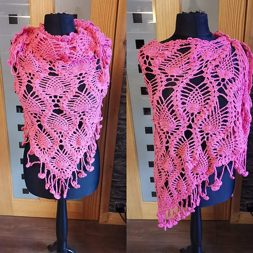 bright pink pineapple scarf / wrap