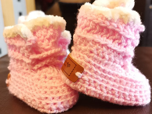 pink  and white baby padders