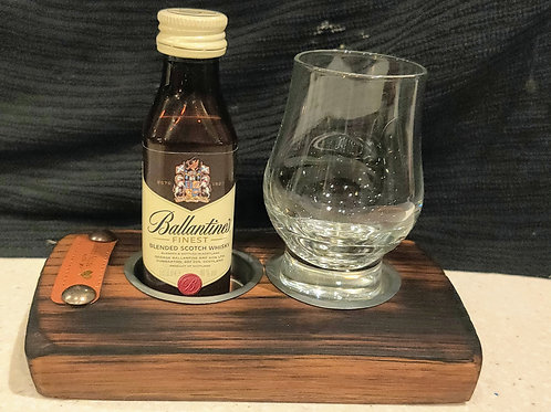 Recycled Barrel stave dram display
