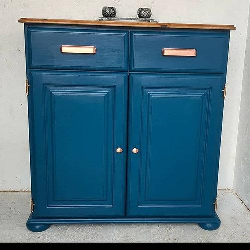 Blue 2 door side board
