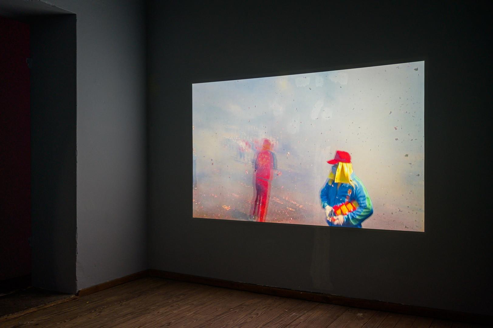 """Songs from the end of the world"" , E-Werk Freiburg , Video Installation Björn Nussbächer"
