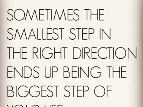 Monday Mantra: The first step is the hardest.