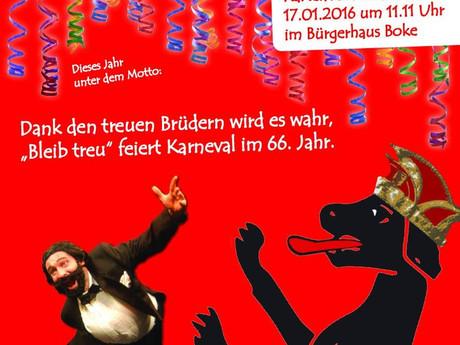 "Großer Büttenabend 2016 der KG ""Bleib treu"" Boke"