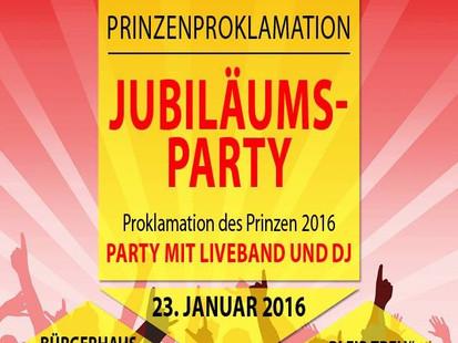 "Prinzenproklamation 2016 der KG ""Bleib treu"" Boke"
