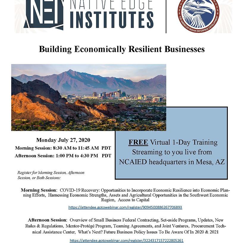 Native Edge Institutes- Phoenix (Morning Session) 8:30- 11:45 AM PDT -