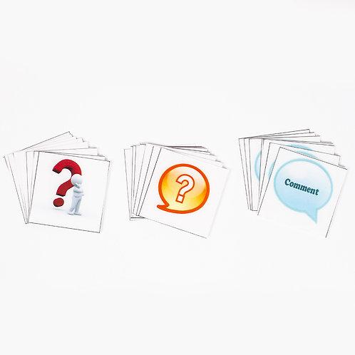 QIC Cards (question, idea, comment-set of 8 each)