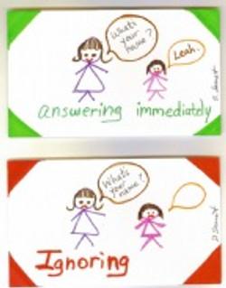 answering immediately vs. ignoring