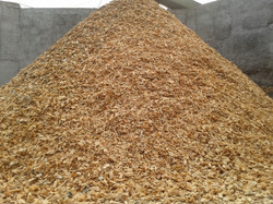 Drying wood chips