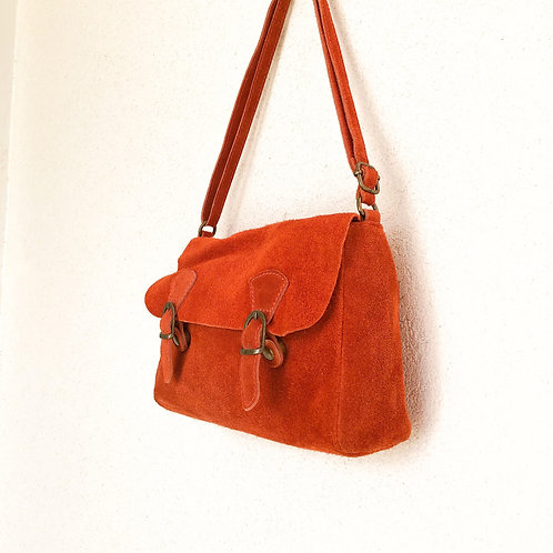 Sac gibecière orange rouille