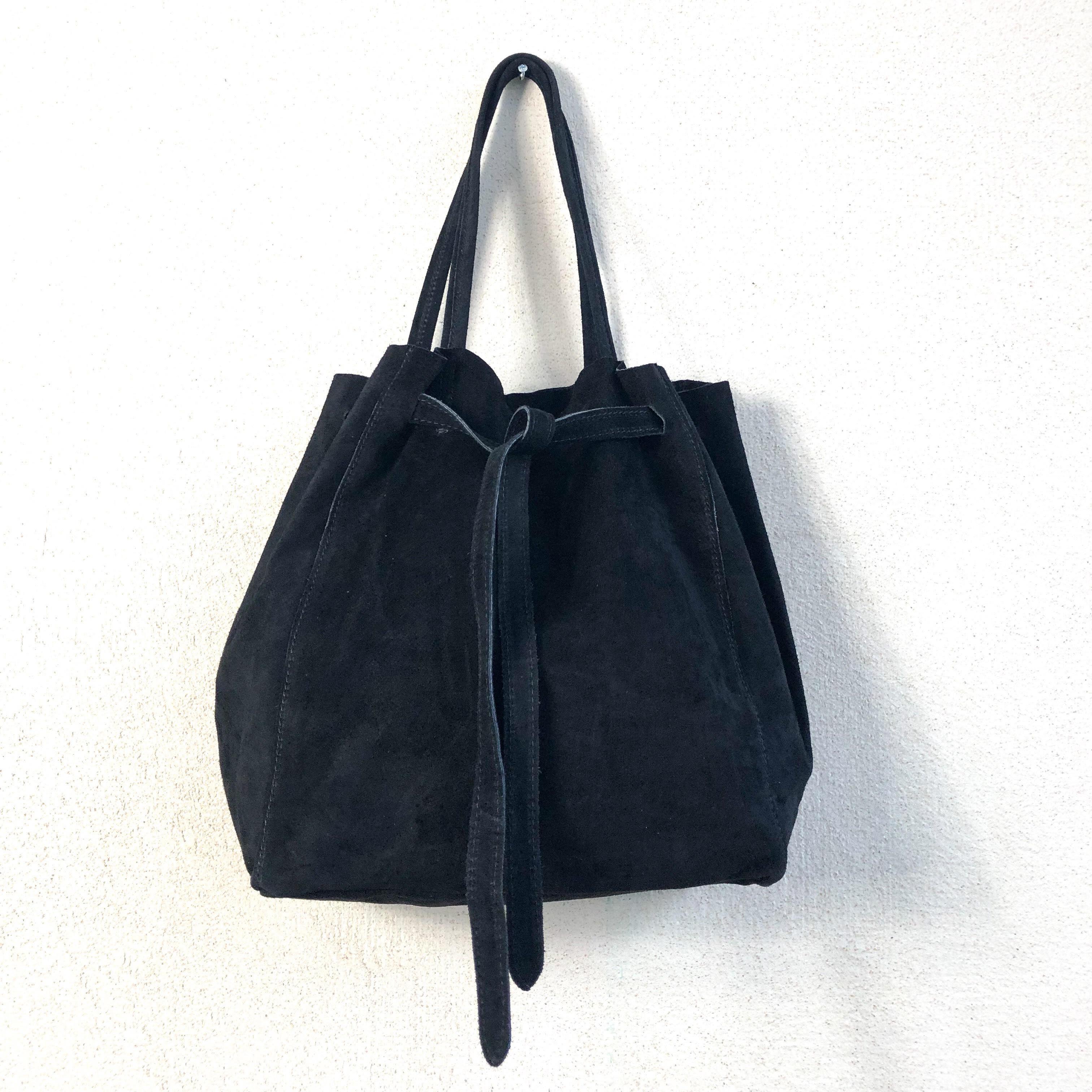 nouvelle collection ad2ea 96f84 Sac cabas daim noir