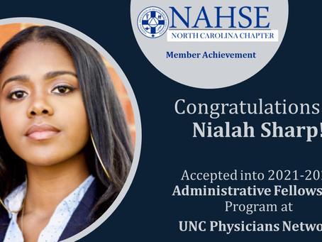 Congratulations to Nialah Sharp!