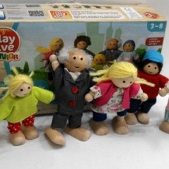 03-770-53 Деревянная игрушка.Кукольный театр.СЕМЬЯ.6 ПЕРСОН.