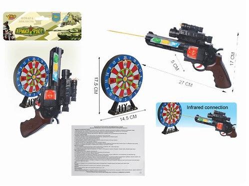 03-207-3 Револьвер(27см)с мишенью Полицейский 2 св.зв.