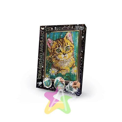 25-520 Набор креативного тв-ва Diamond Mosaic малый Котёнок