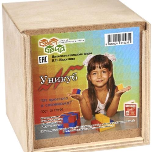 59-003 Игра развивающая Уникуб(фанерная коробка)