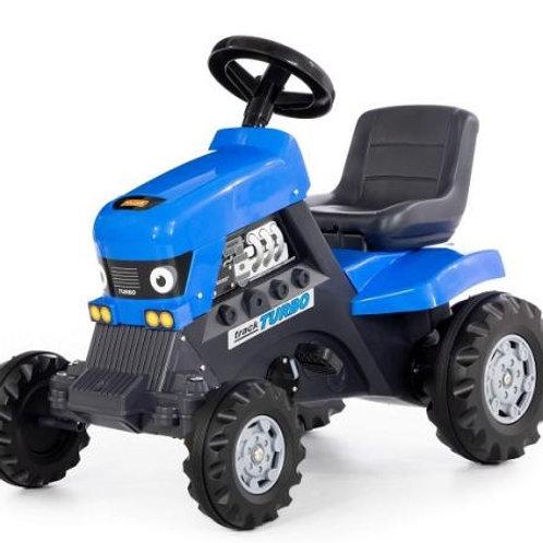 16-153 Каталка-трактор с педалями Turbo (синяя) (Полесье)