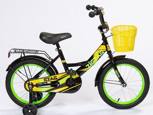 17-121-42 Велосипед 16 ZIGZAG CLASSIC Черный/желтый/зеленый