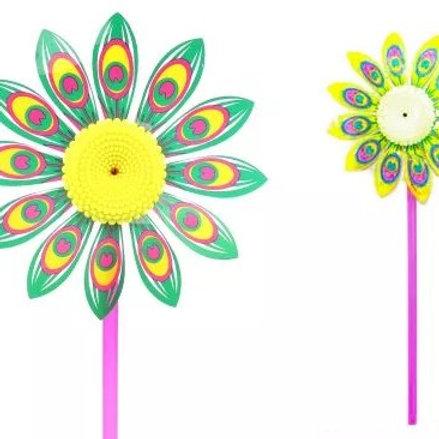 25-950-7 Вертушка яркий цветочек 39см