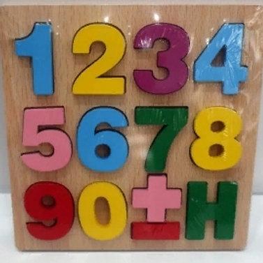 03-769-90 Деревянная пазл-рамка (15x15) ЦИФРЫ