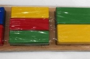 03-776-6 Деревянная игрушка. Дроби. КВАДРАТЫ (РК)