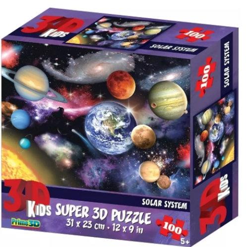 10-287 Пазл Super 3D Планеты. 100 детал.