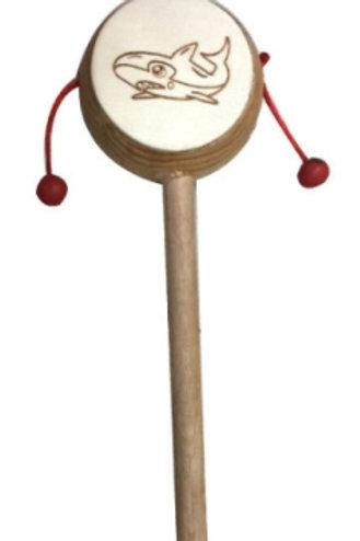 03-784-40 Деревянная игрушка. Колотушка с бусинками РЫБКА