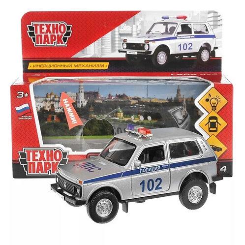 14-417-13  Машина металл LADA 4x4 12см. открыв. Полиция