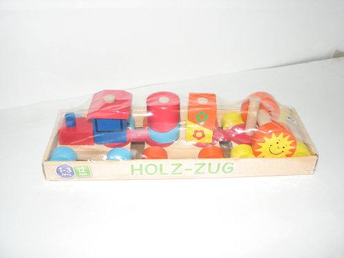 03-773-71 Деревянная игрушка-каталка .Паравозик-конструк(РК)