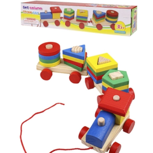 03-773-8 Деревянная игрушка. Каталка ПАРОВОЗИК-СОРТЕР 39