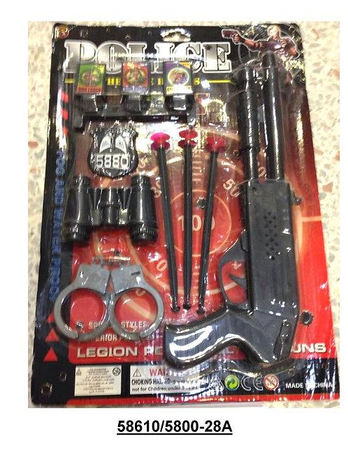 10-535-43 Полиция винчестер+наруч+бинокль+стрелы+мишень+акс
