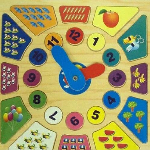 03-785-6 Дерев.игрушка. Часики (30х30) УЧИМСЯ СЧИТАТЬ (РК)